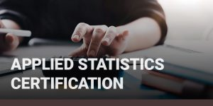 Applied Statistics Certification course icon.