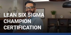 Lean Six Sigma Champion Certification course icon.