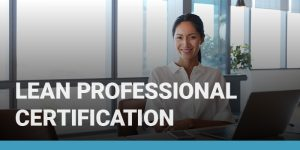 Lean Professional Certification course icon.