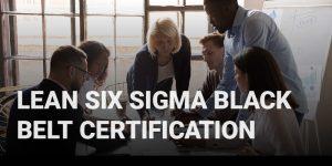 Lean Six Sigma Black Belt Certification course icon.