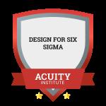 Design for Six Sigma badge.