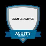 Lean Champion badge.