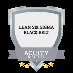 Lean Six Sigma Black Belt badge.