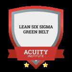 Lean Six Sigma Green Belt badge.