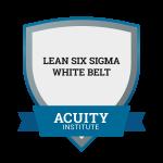 Lean Six Sigma White Belt badge.
