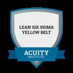 Lean Six Sigma Yellow Belt badge.