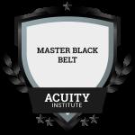 Master Black Belt badge.