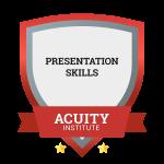 Presentation Skills badge.
